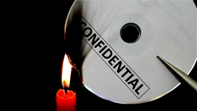 burning a confidential compact disc video