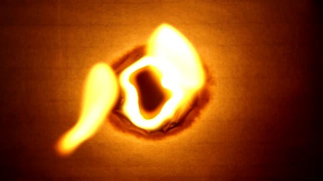 Burning a hole