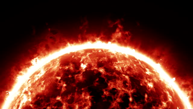 Burning atmosphere of red giant star video