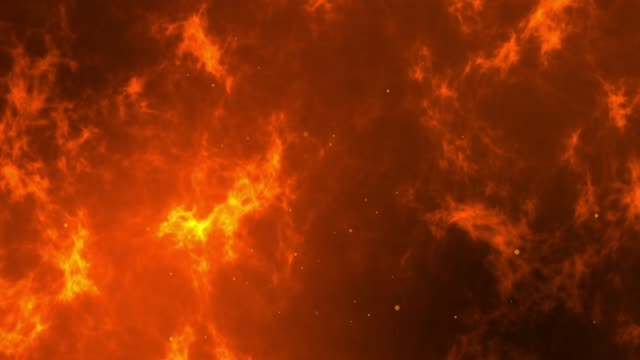vídeos de stock, filmes e b-roll de queimando o fundo com partículas - inferno fogo