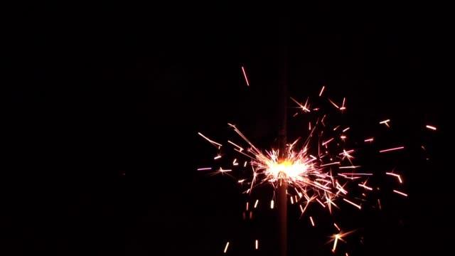 Burning bengal light in the dark video