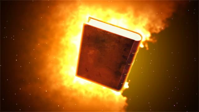 Burning book video