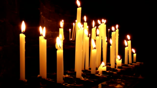 Burning Candles In Saint Peter Church, Portovenere video