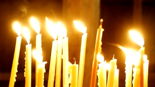 burning candles - christening stock videos and b-roll footage