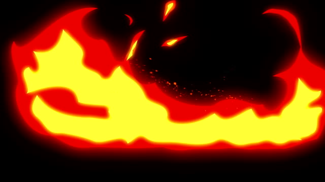 Burning Fire Animation, Comic Style, video