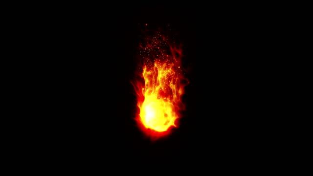 brennendes feuer flammen mit funken, schleife, - fackel stock-videos und b-roll-filmmaterial