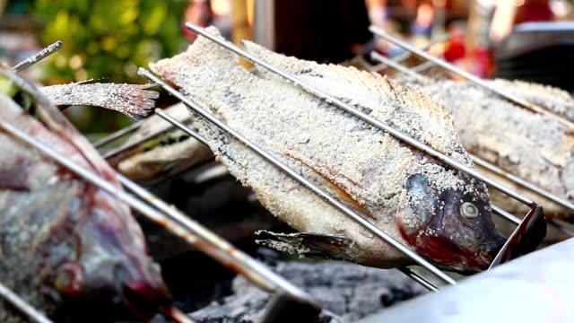 Burning fish video