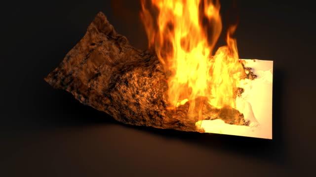 burning five english pound to ashes - pound sterling isolated bildbanksvideor och videomaterial från bakom kulisserna