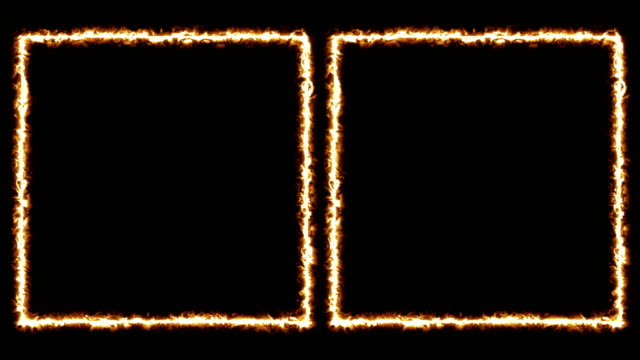 Burning Frame Double+Loop+Alpha