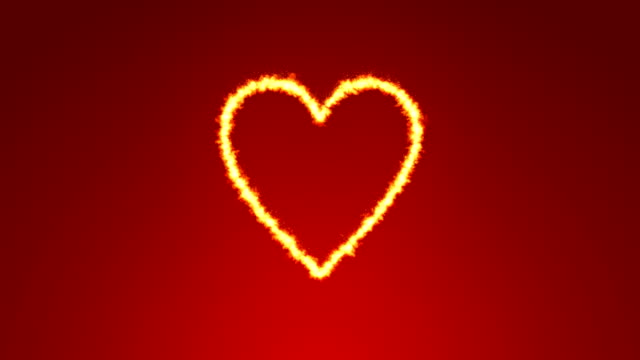burning heart backgrounds - simbolo concettuale video stock e b–roll