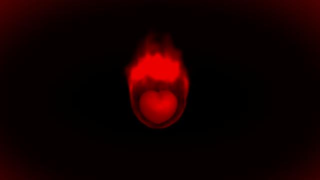 brennende herzen - inneres organ eines tieres stock-videos und b-roll-filmmaterial