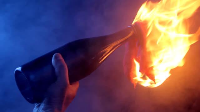 Burning Molotov Cocktail Bomb video