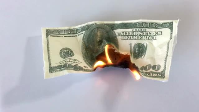 Burning money video