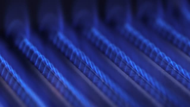 Burning of natural gas in water heater furnace Burning of natural gas inside of boiler furnace 4K close-up furnace stock videos & royalty-free footage