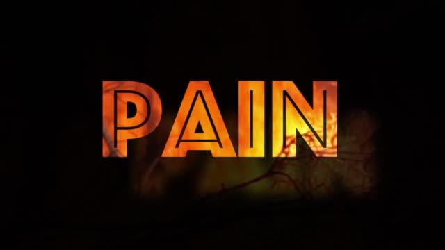 Brennende Schmerzen Infografik auf schwarzem Hintergrund – Video