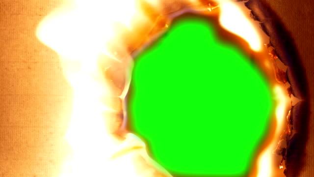 燒紙,燒洞 - 燃燒 個影片檔及 b 捲影像
