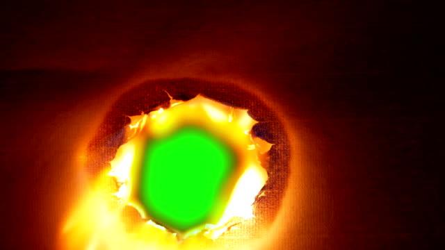 Burning paper, burning a hole