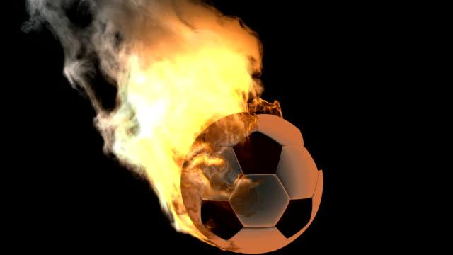 vidéos et rushes de brûler ballon de football.  alpha partout - ligue sportive
