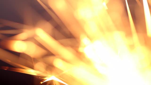 Burning sparkler. Abstract Firework sparkling festivities video