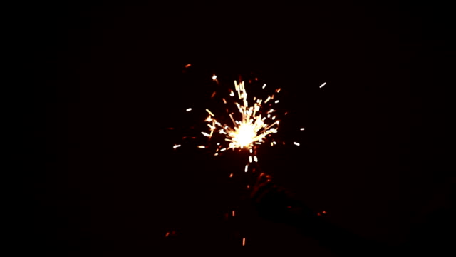 Burning Sparkler on Diwali festival video