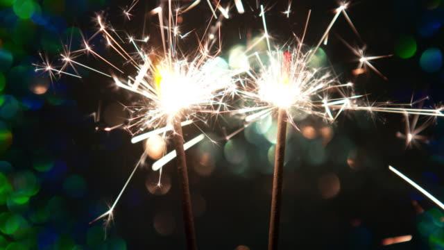 4K: Burning sparkler video