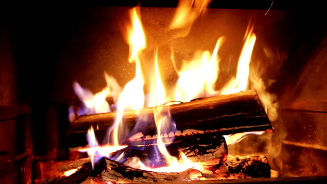Burning Wood In The Fireplace Burning Wood In The Fireplace fireplace stock videos & royalty-free footage