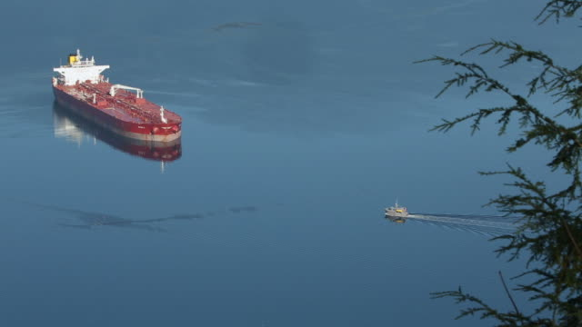 Burrard Inlet Anchored Oil Tanker video