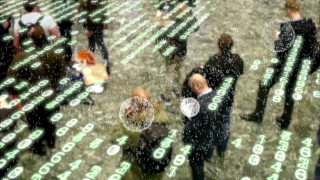 Explosões de dados provenientes de usuários de telefone celular. - vídeo