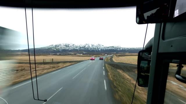 Autobús / autocar paseo en Golden Circle, Islandia - vídeo