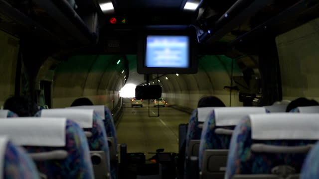 Bus running in tunnel video