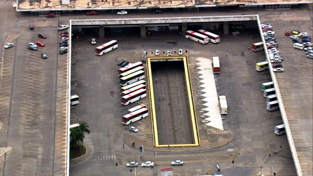 Estação de ônibus-Vista aérea-Distrito Federal, Brasília, Brasil - vídeo