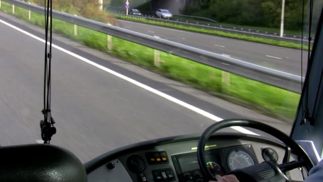 Bus windshield and dashboard video