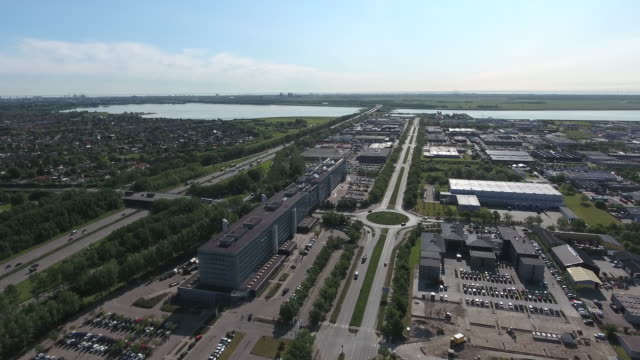 Business Aerial view video
