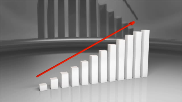 Business And Finance Growth Infographic Bar Graph Or Chart 3D Animation 4K. video