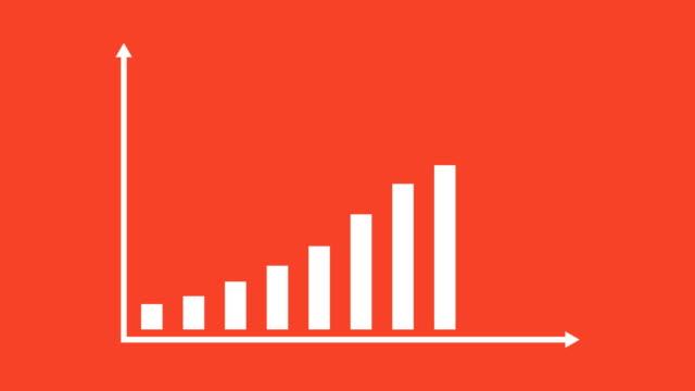 geschäft und finanzen wachstum infografik balkendiagramm oder diagramm-animation - grafik stock-videos und b-roll-filmmaterial