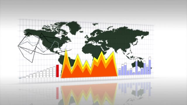 Business Background, Earth and Graphs, Animation video