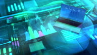 istock Business background with big data and laptop. 1222139036