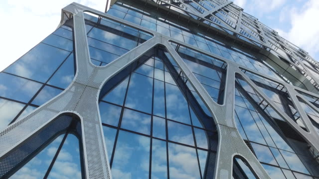 business building - abstract architecture стоковые видео и кадры b-roll
