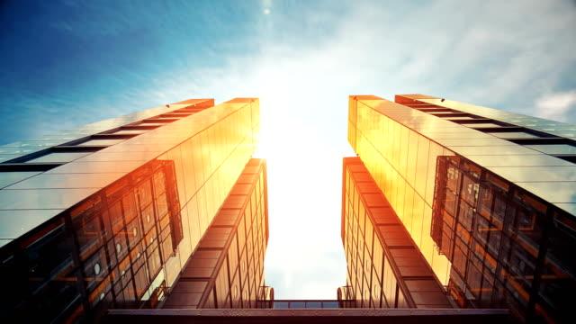 business building - scoprire nuovi terreni video stock e b–roll