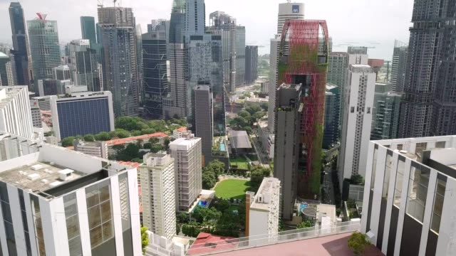 business buildings and housing at tanjong pagar district. - singapore architecture stock videos & royalty-free footage