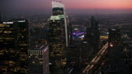 istock AERIAL Business buildings of the Downtown LA at night 1056461722