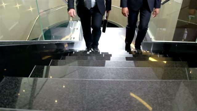 business centre di routine - balaustrata video stock e b–roll