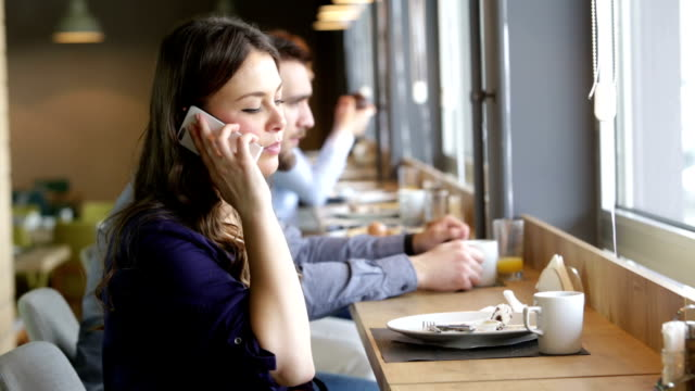business colleagues enjoying lunch video