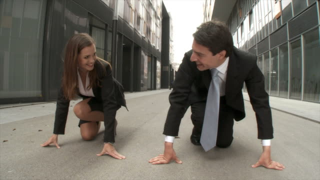 HD SLOW-MOTION: Business Competition video