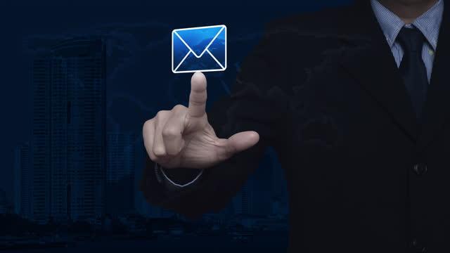 stockvideo's en b-roll-footage met zaken neem contact met ons online concept, elementen van dit beeld geleverd door nasa - e mail