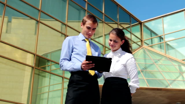 Business conversation video