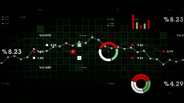 D'affaires de données vert - Vidéo