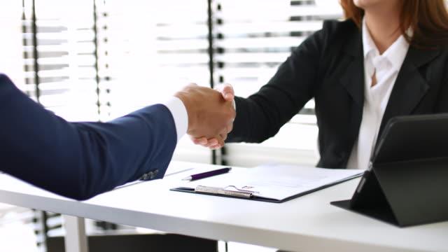 Business deal, agreement video