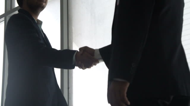 Business deal:slow motion video