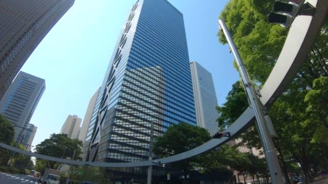 ビジネス地区の新宿高層ビル - 建物点の映像素材/bロール